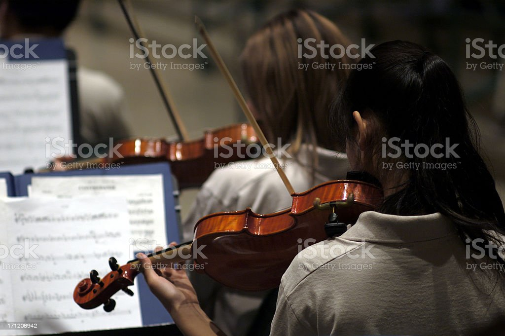 candid orchestra stock photo