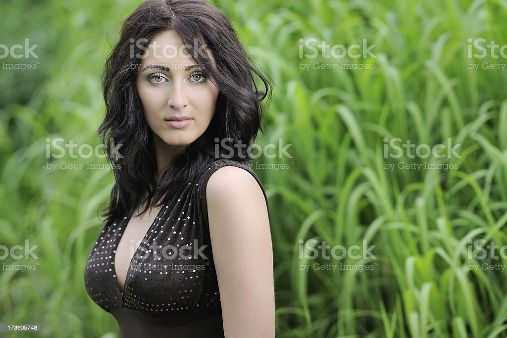 Candid Portrait of a Beautiful Mixed Race Girl (XXXL) royalty-free stock photo