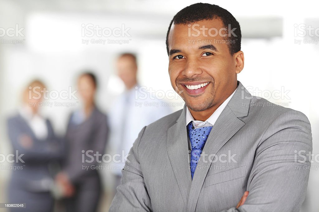 Candid smile of African American business man. royalty-free stock photo