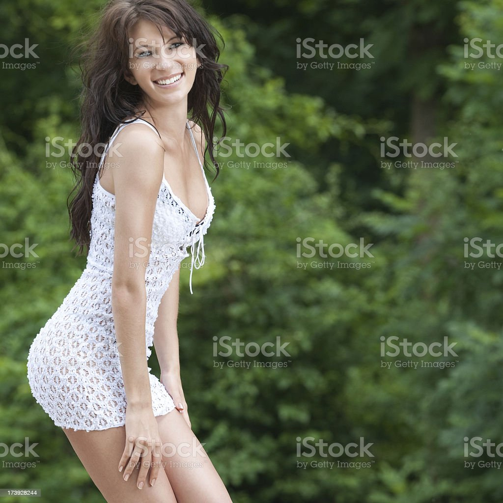 Candid Smile royalty-free stock photo
