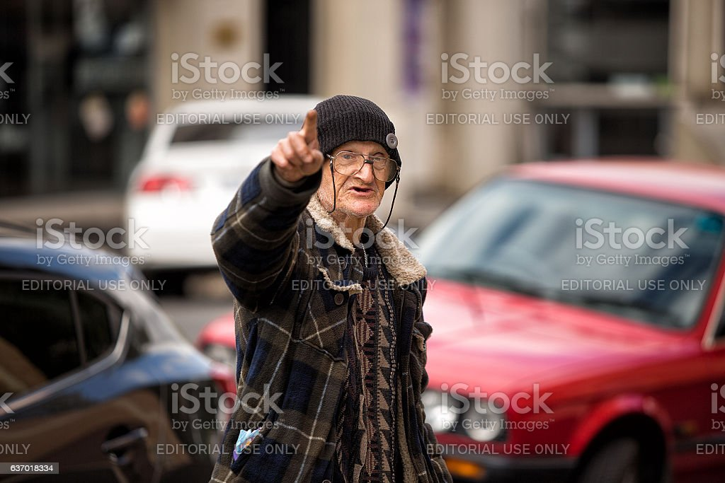 Candid street portrait stock photo
