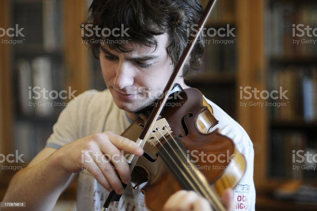 Candid Violinist 3 stock photo