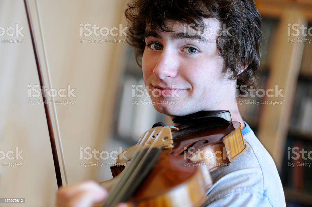 Candid Violinist royalty-free stock photo