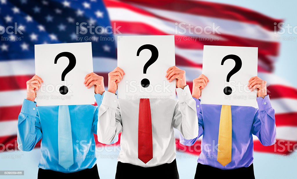Candidates for presidential elections in the USA stock photo