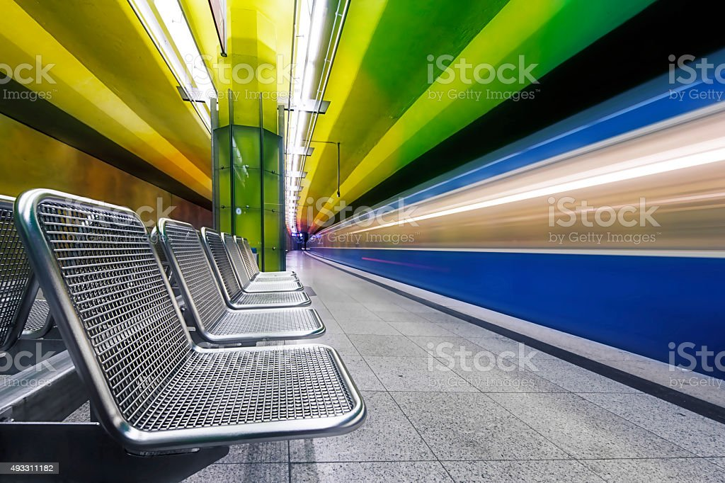 Candidplatz subway station in Munich stock photo