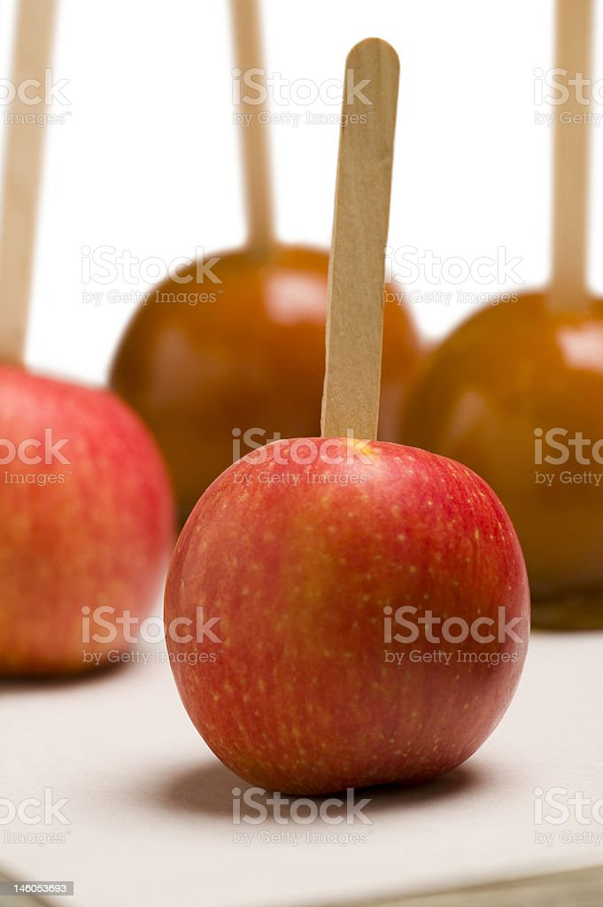 Candied and Caramel Apples stock photo
