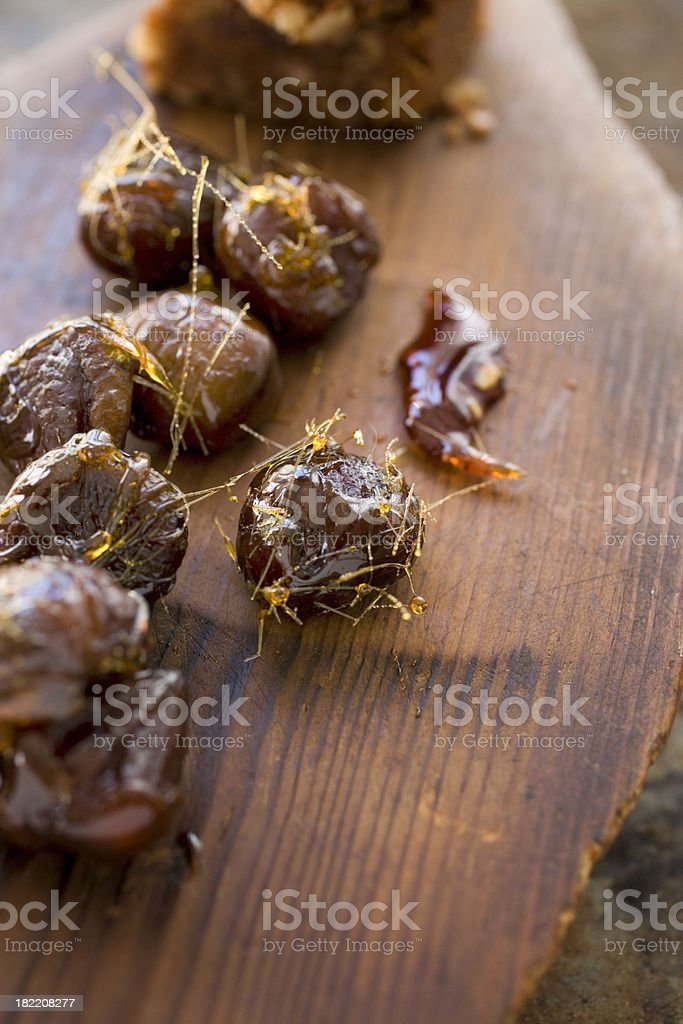 Candied chestnuts stock photo