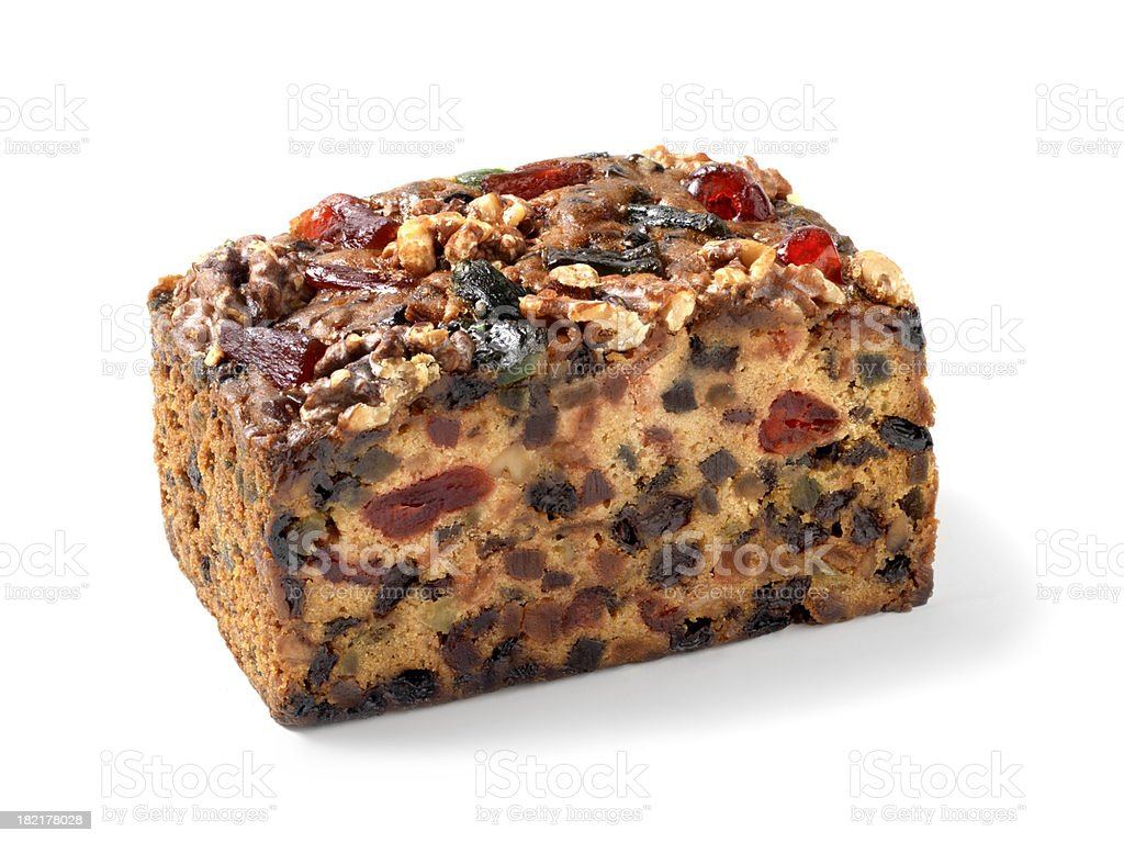 Candied Christmas Fruit Cake stock photo