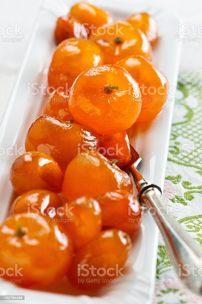 Candied citrus fruits stock photo