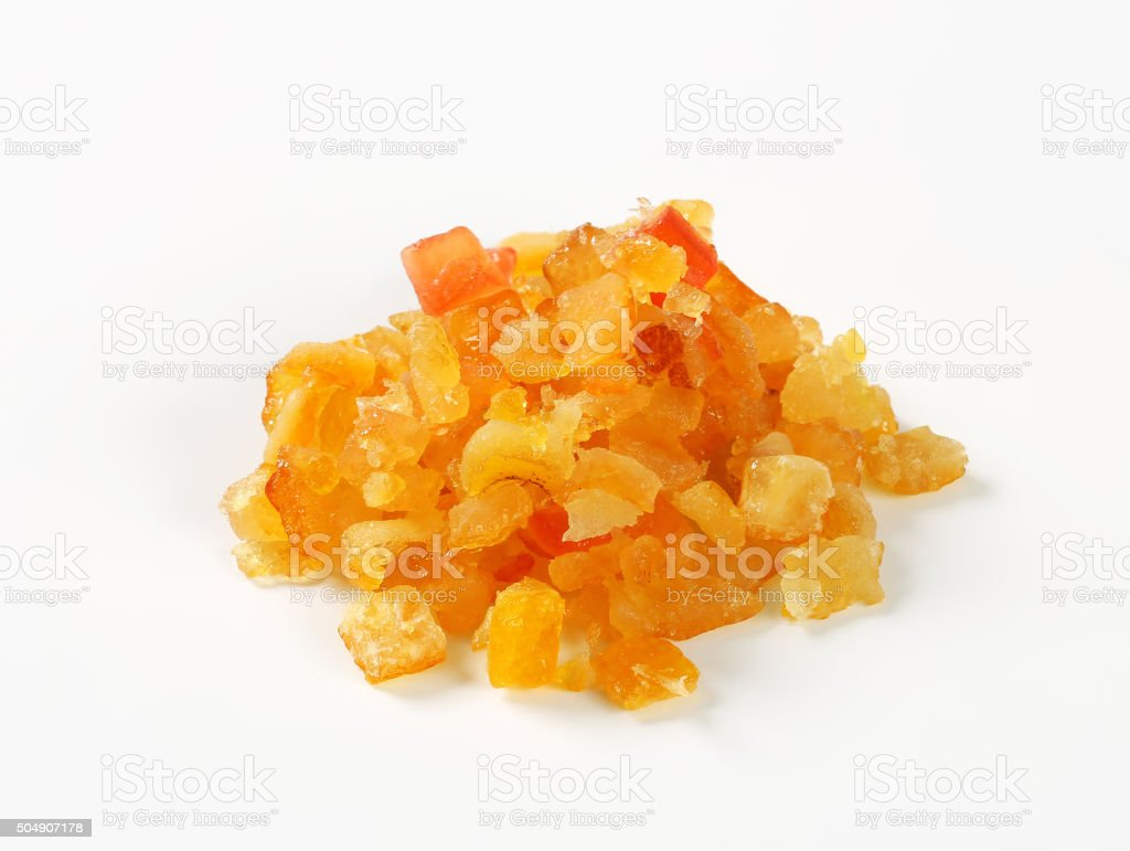 Candied citrus peel stock photo