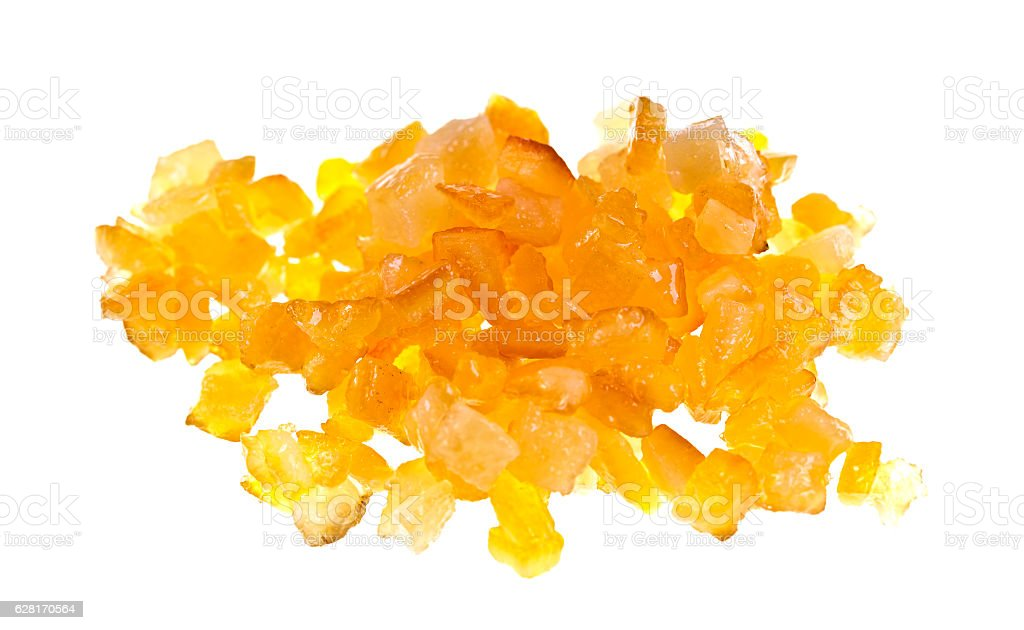 Candied Diced Citrus Peel stock photo
