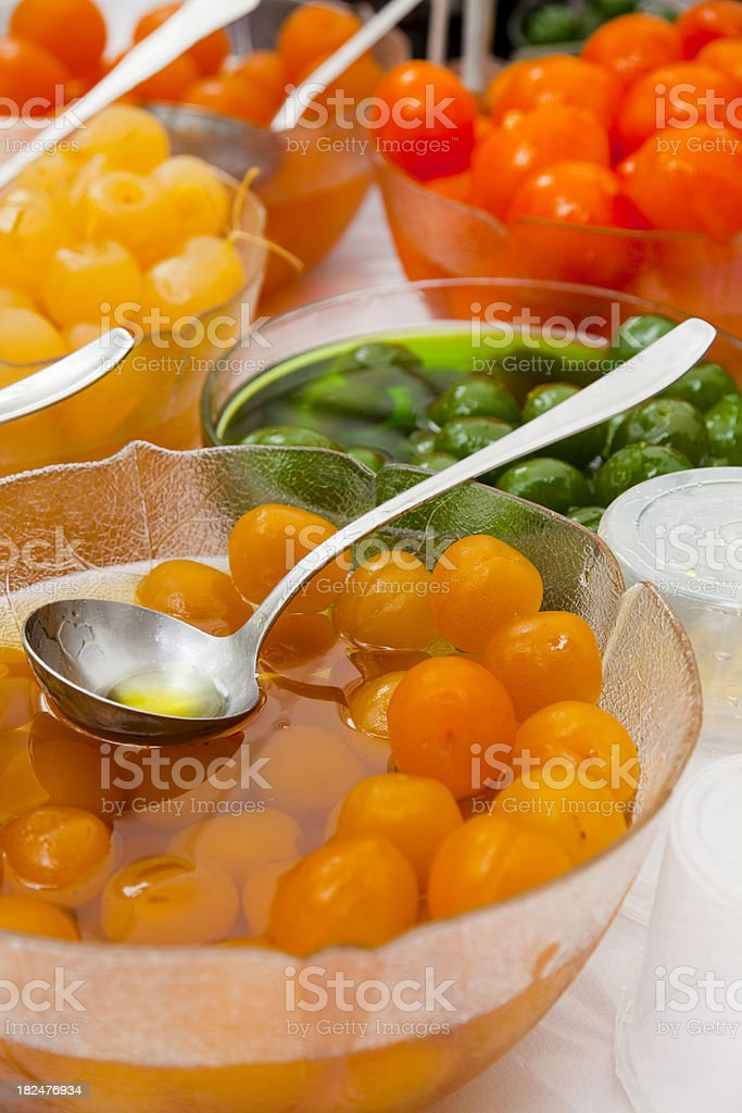 Candied fruits royalty-free stock photo