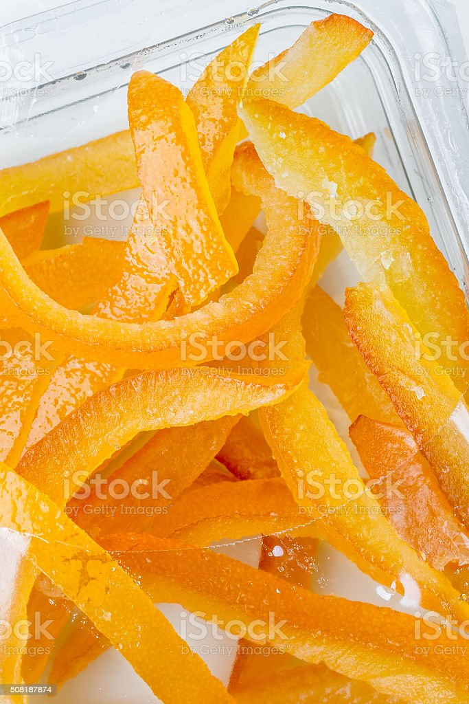 Candied orange pee stock photo