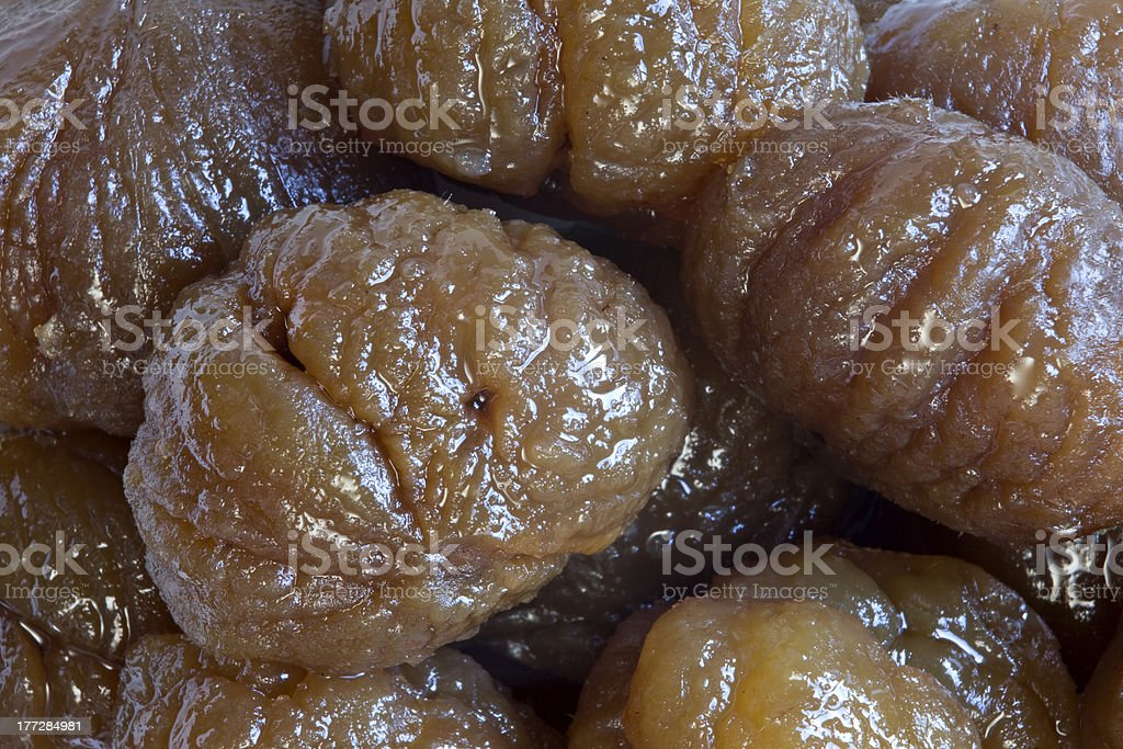 Candieded chestnuts royalty-free stock photo