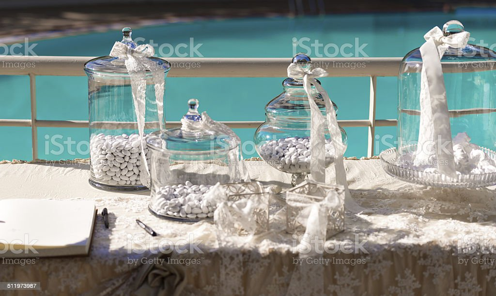 Candies and sweets for parties. stock photo