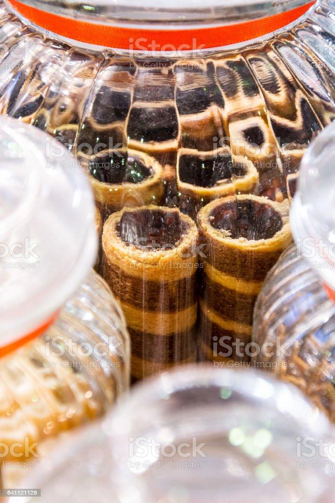 Candies in jar stock photo