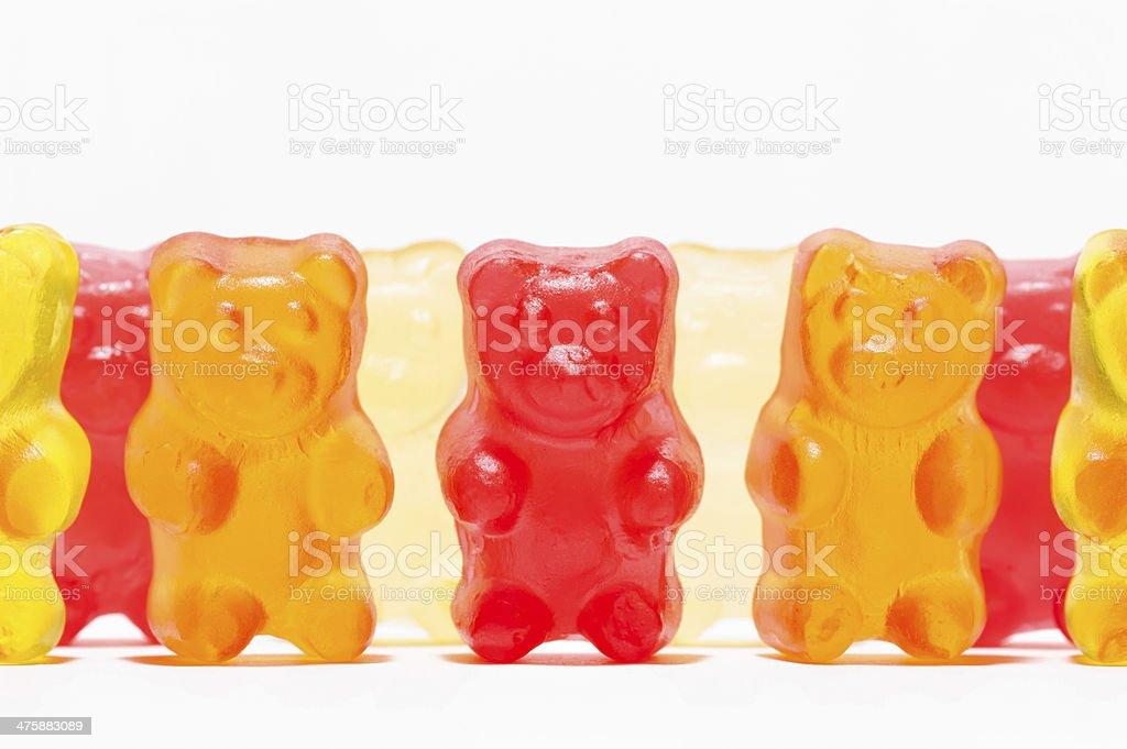 Candies shaped like a teddy bear stock photo