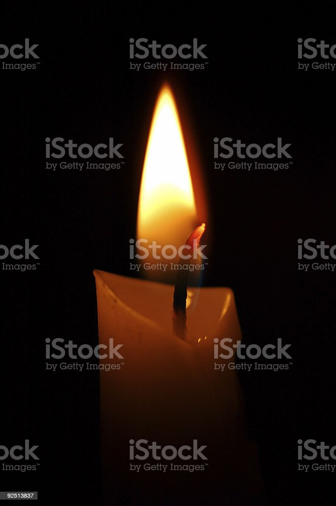 Candle 1 stock photo
