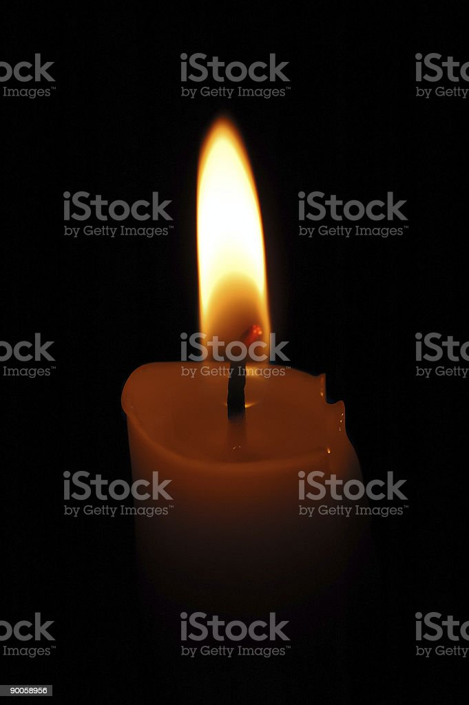 Candle 2 stock photo
