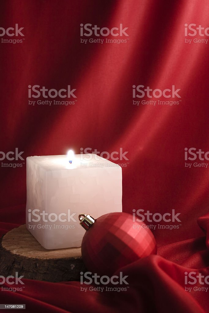 Candle and bauble royalty-free stock photo