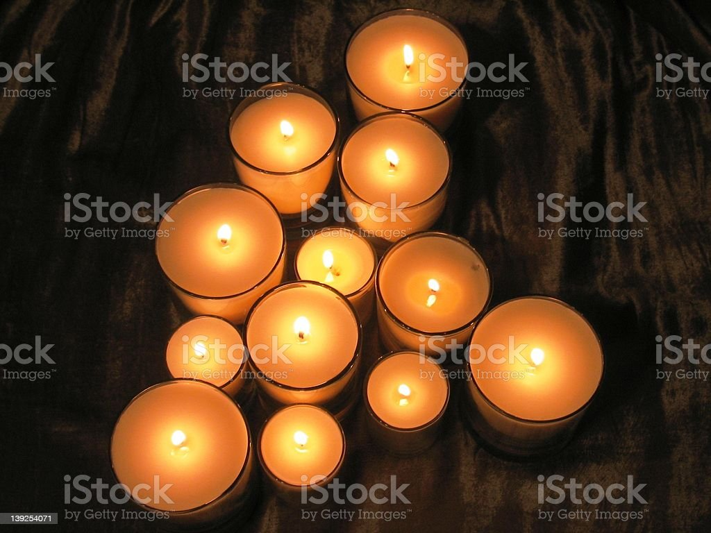 Candle Array royalty-free stock photo