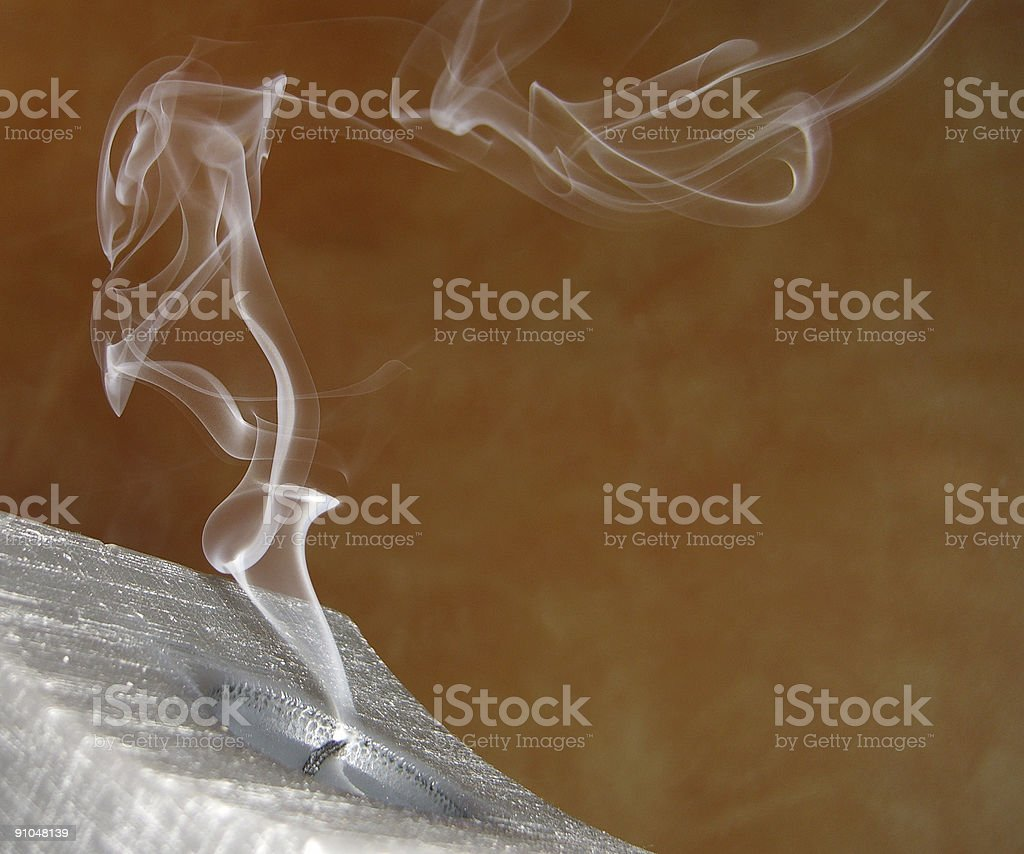 Candle blow off afer Christmas stock photo
