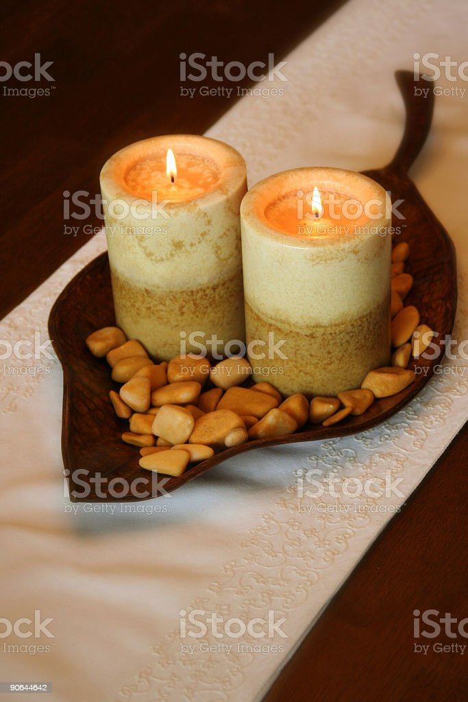 Candle Centerpiece royalty-free stock photo