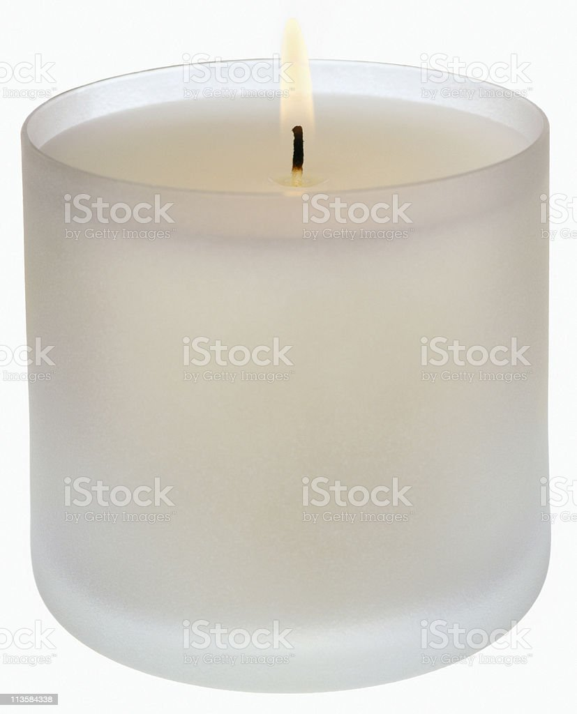 candle cut out on white stock photo