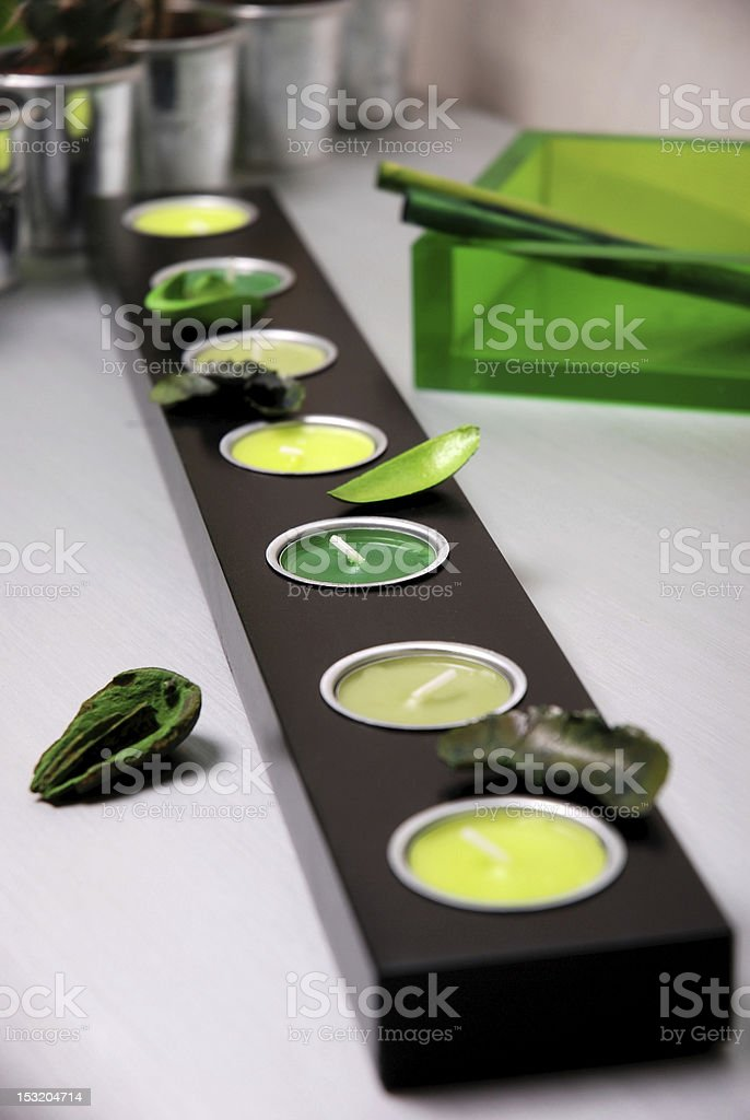 Candle decoration royalty-free stock photo