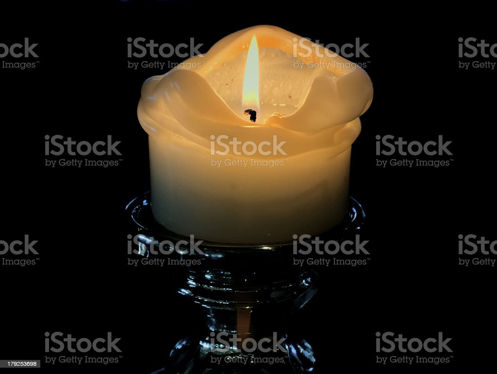 Candle flame and Light royalty-free stock photo