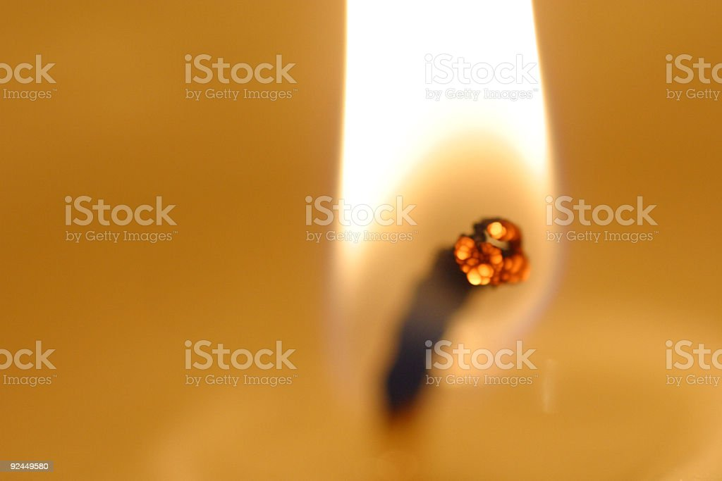 candle flame close-up royalty-free stock photo
