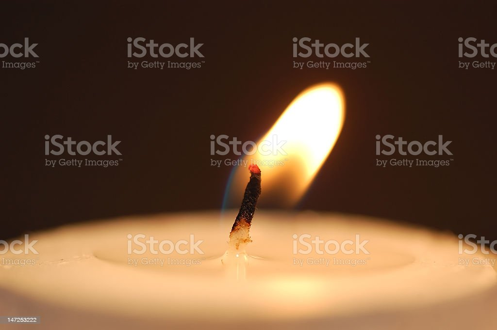 Candle flame royalty-free stock photo