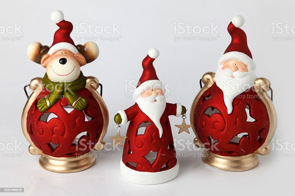 candle holders for Christmas stock photo