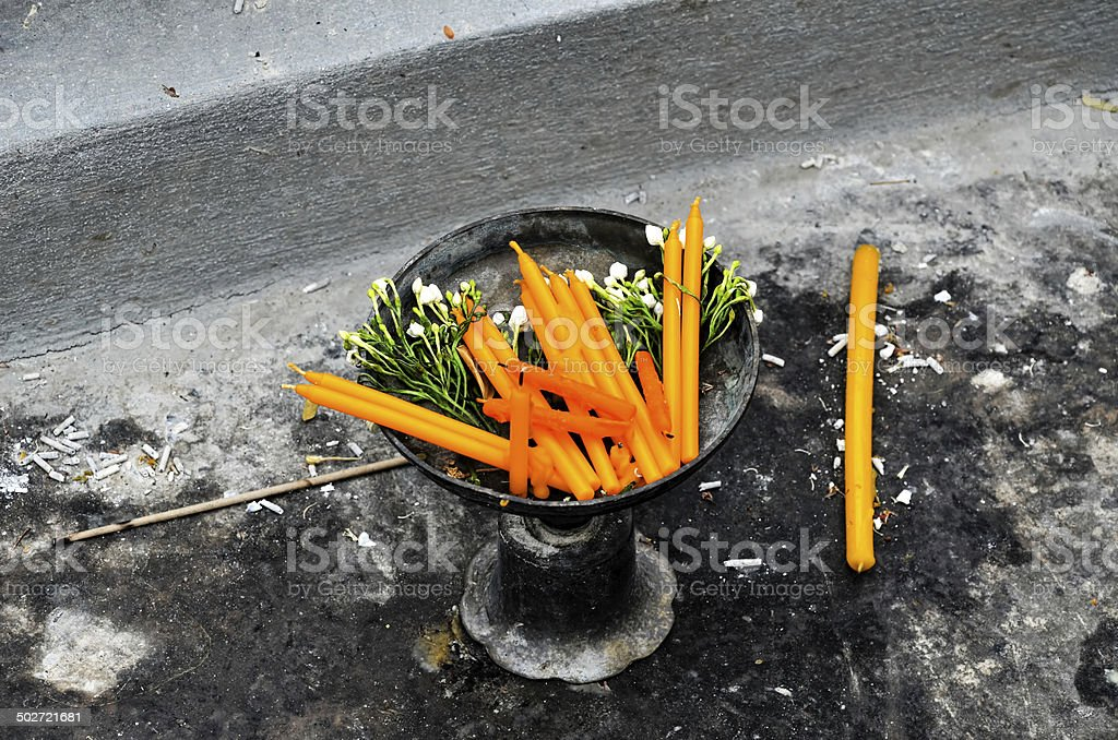 candle in a tray royalty-free stock photo