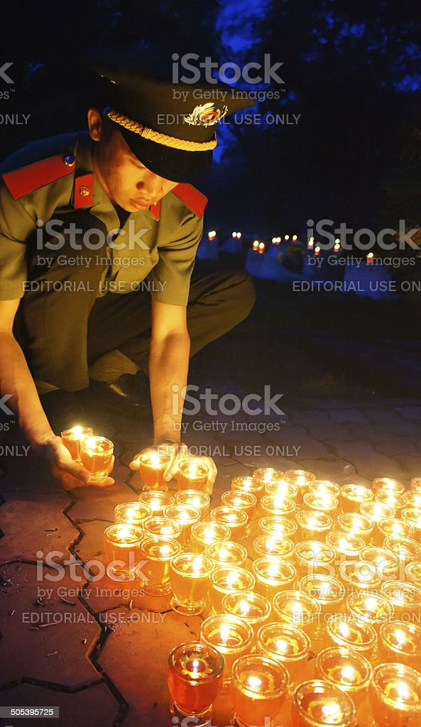 candle in ceremony stock photo