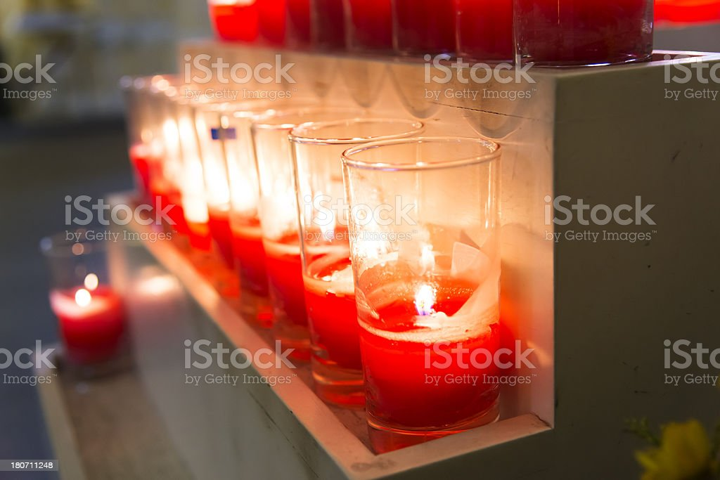 candle in church royalty-free stock photo