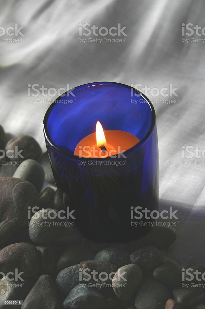 Candle in Cobalt royalty-free stock photo