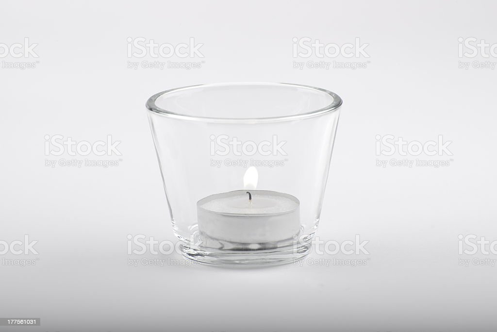candle in glascup stock photo