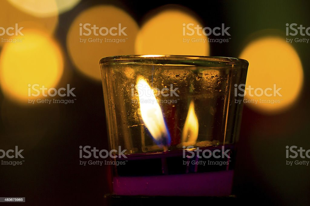 Candle in Thailand stock photo
