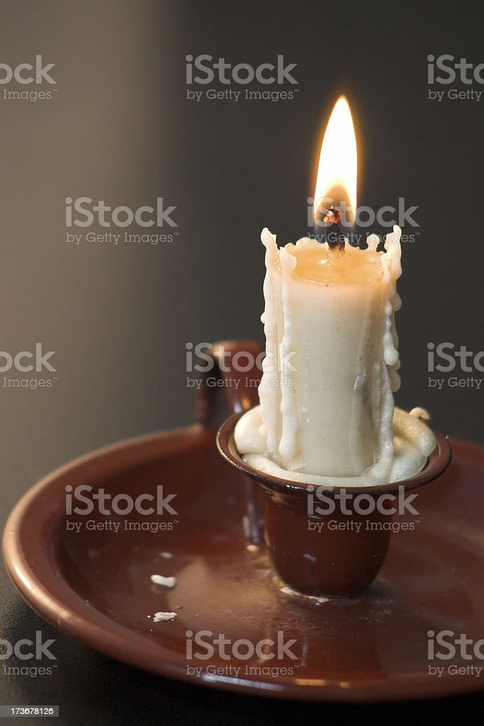 Candle intimate warm light - shallow dof royalty-free stock photo