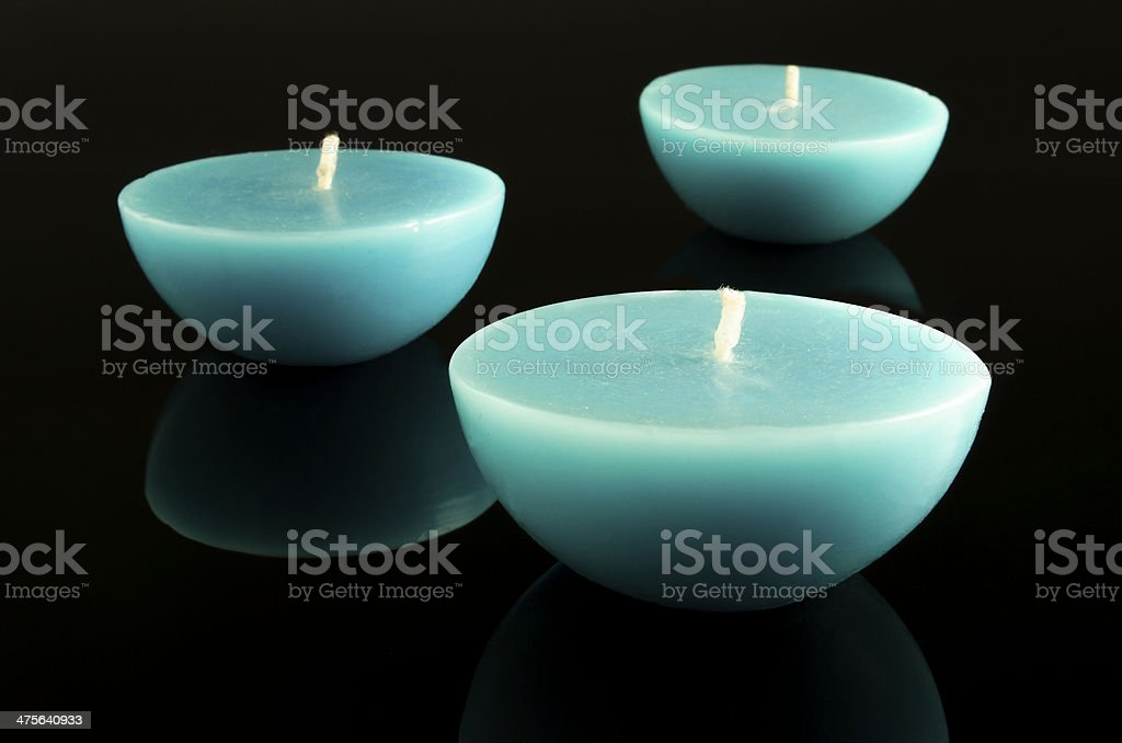 Candle isolated on black royalty-free stock photo