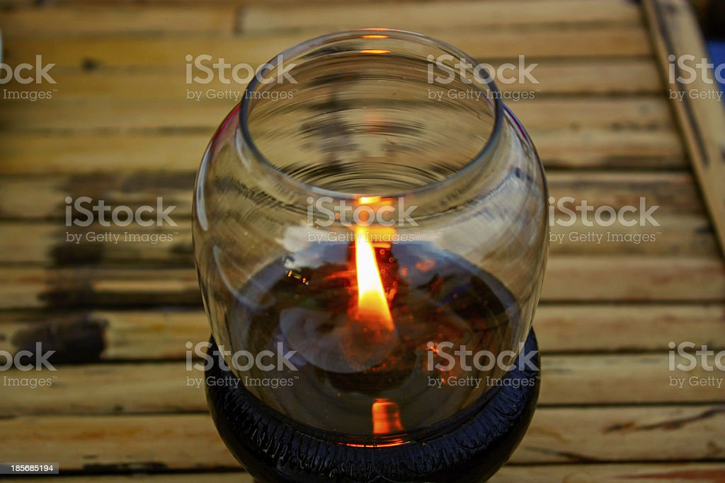 Candle lamp stock photo