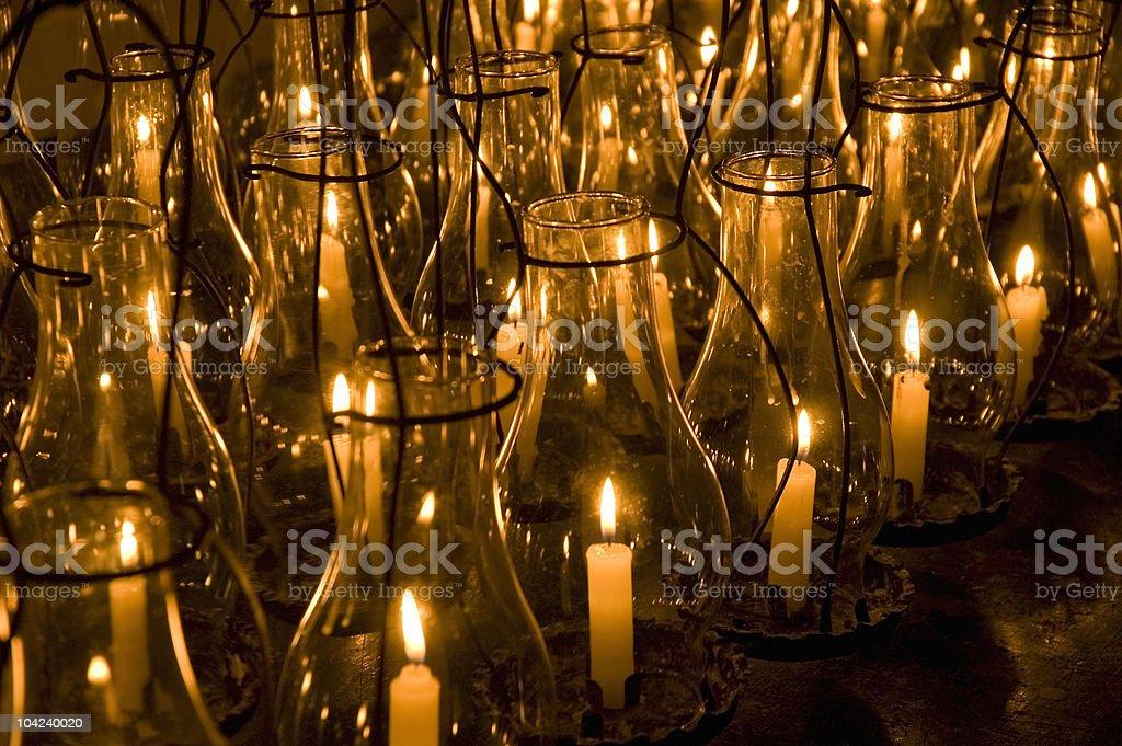 Candle Lanterns stock photo
