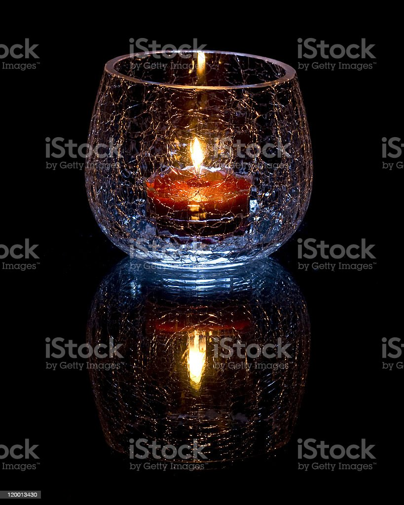 Candle Light Glass stock photo