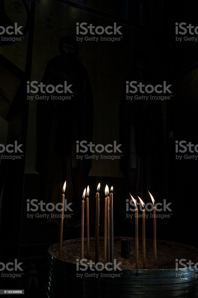 Candle lights stock photo