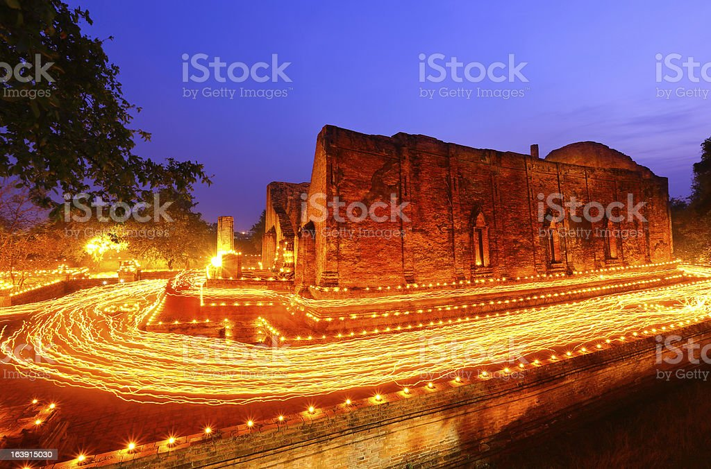 Candle lit royalty-free stock photo