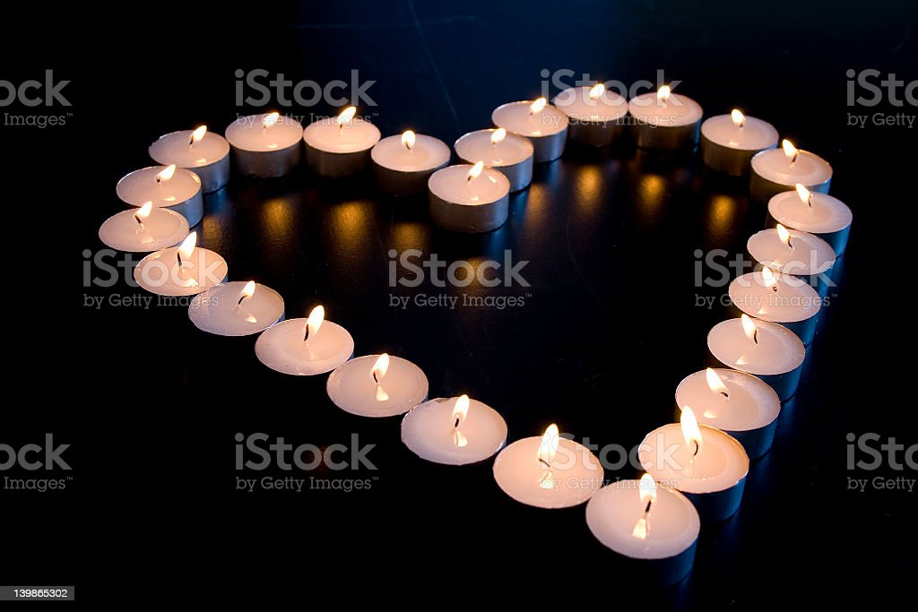 Candle Love stock photo