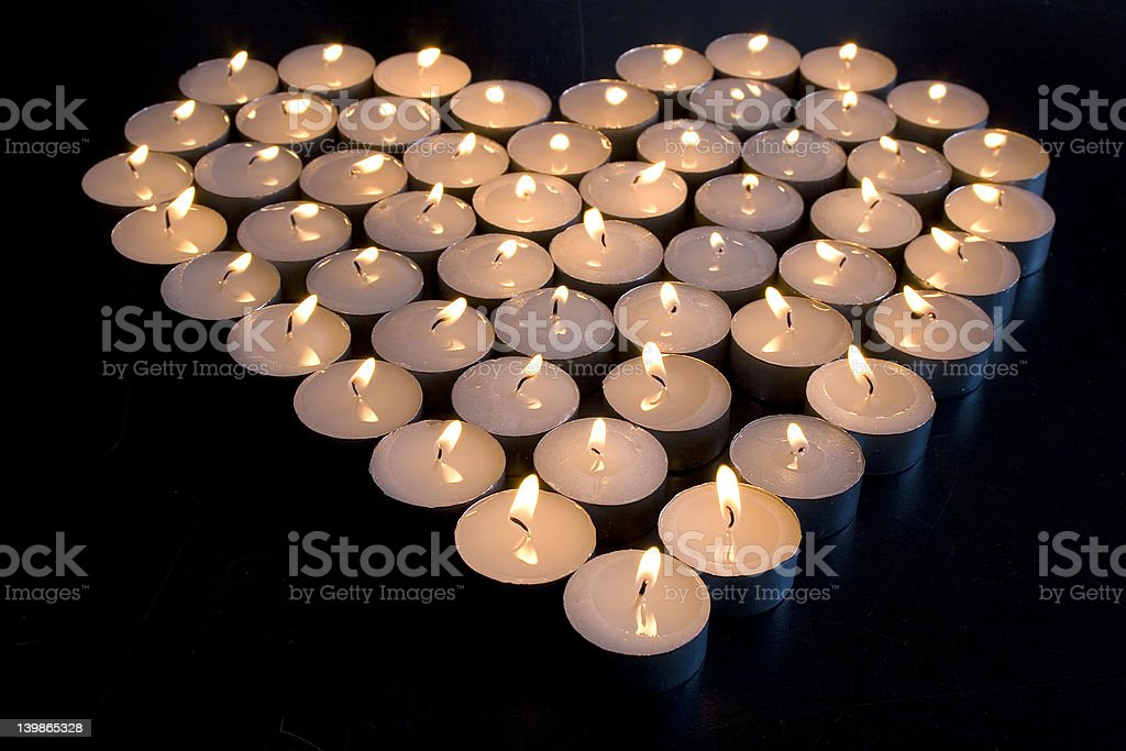 Candle Love royalty-free stock photo