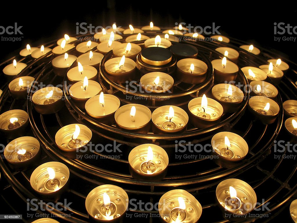 candle mountain stock photo