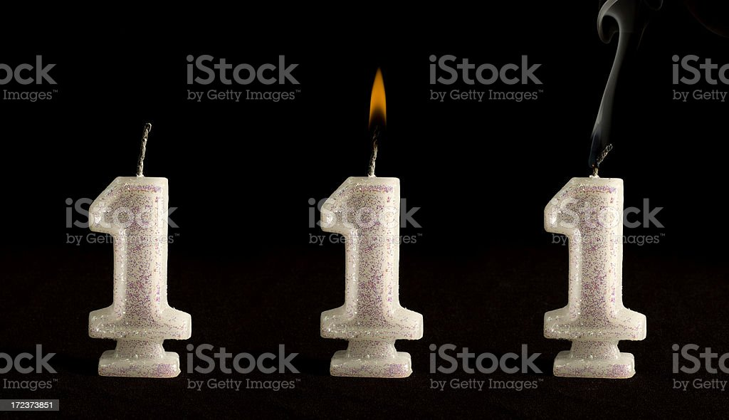 Candle Number One royalty-free stock photo